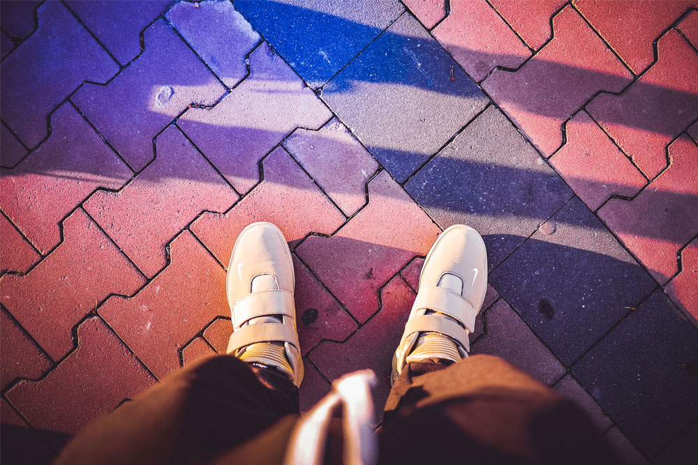 Stylish Shoes, Colors & Sunset